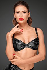 POWERWETLOOK BRA WITH HANDMADE PLEATS