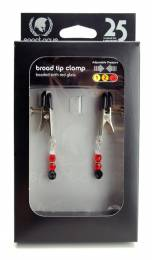 Red Beaded Clamps - Adjustable Broad Tip