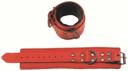 Red Leather Restraints with Fur Lining