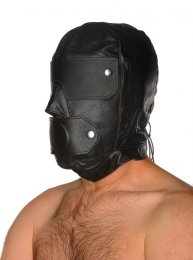 Leather Slave Hood & Gag