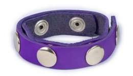 Original Adjustable Leather Ring - Purple with 3 snaps